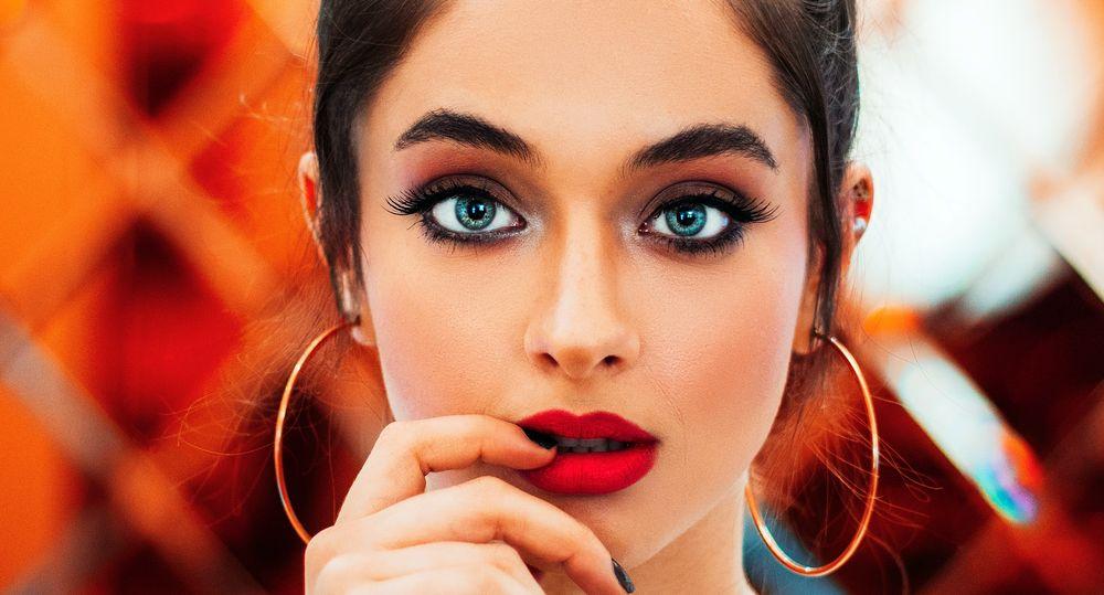 Maquillage yeux bleus
